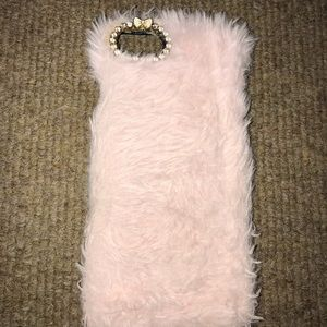iphone 6/7/8 fluffy pink case